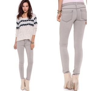 {Free People} Stretch Gray Wash Skinny Jeans